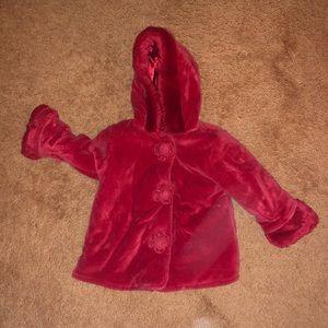 Greendog Red Girls Coat size 18 mo.